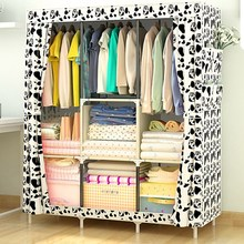 Folding Portable Cabinet DIY Non-Woven Wardrobe Cabinets Bedroom Furniture Dustproof Storage Cabinet Wardrobe Closet