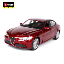 BBURAGO alloy car models 1:24 2016 Alfa Romeo sports car simulation model Collection Lovers Diecast Toys Gifts for children