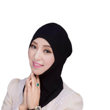 New Headscarf Inner Hat Cotton Bonnet Cap Underscarf Hijab Scarf Cover Abaya Turban Headgear Hooded Instant Arab Islamic(China)