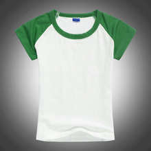 Blank Unisex Two Color Kids T Shirt Green and White Organic Cotton Basic Tops Tee Undershirt Kids Clothing 2 3 4 6 8 10 12T 1426(China)
