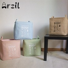 Small Laundry Basket Folding Bathroom Organizer Waterproof Clothes Storage Dirty Kids Toys Necktie Socks Box Bag Bins Washday(China)