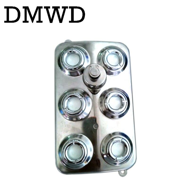 DMWD 6 Head Ultrasonic Mist Maker Fogger Stainless Steel Humidifier Aeromist Hydroponics Nebulizer Water Fountain Pond Atomizer<br>
