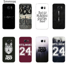 Teen Wolf Cover case For Samsung Galaxy s8 s8plus A5100 A7100 2016 A5200 A520F A7200 2017 S5 S6 S6Edge S7 S7 Edge phone cases(China)