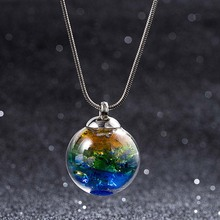 New Fashion Jewelry Star Universe Dream Ocean Stereo Glass Ball Pendant Necklace(China)