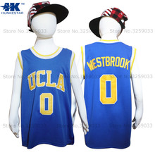 Kids Boy Russell Westbrook Jersey UCLA Bruins #0 College Basketball Jersey Youth Basket Uniforms Stitched For Children(China)