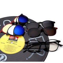 Fishion Sunglasses Eyeglasses two in one Buy one get Five Polarized Sunglasses Myopia sunglass replaceable(China)
