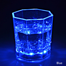 Colorful Flashing Led Light cup Magic Led Champagne Glass Flash Wine Beer Bar Mug Drink Cup for Party Wedding KTV Hogar(China)