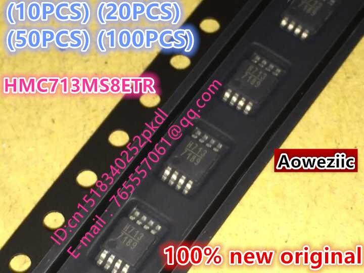 100% new  original  HMC713MS8ETR  H713 MSOP8  RFdetector chip<br>