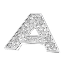 X Autohaux English Letter A  Rhinestones Self Adhesive Emblem Sticker For Car