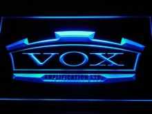 k180 VOX Amplifier Guitar Bass Band LED Neon Sign with On/Off Switch 7 Colors 4 Sizes to choose