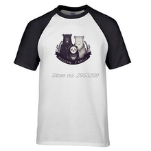 Modern Family Of Black Polar Bear And Panda T Shirt Design Creative T-shirt Cool Casual Novelty Funny Tshirt Men raglan sleeve