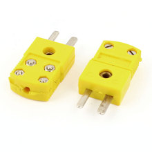 Uxcell Wire Connector Male Thermocouple Plug Rtd Circuits K Type Tester Adapter 2 Pcs . | 0 | 200c | 204c | 400c | 800c(China)