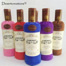 Face Hand Hair Towel Microfibre Soft Cotton Bath Towel Washclothes Quickly-Dry Red Wine Bottle Shape Towels Christmas Gifts