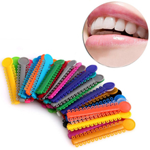 40Pcs 1Pack Dental Elastomeric Ligature Ties Orthodontics Elastic Rubber Bands(China)