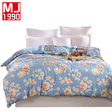 100% Cotton Duvet Cover With Zipper Quilt cover or Comforter or Blanket Case Bedding Bag Reactive Printing A/B Version Bed Sack(China)