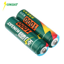 KINBAT 2pcs 1000mAh 1.2V AA Ni-CD Rechargeable Battery AA Pre-Charged NICD Batteries Pack For Toys Microphone Remote Controls(China)