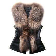 2017 Chic Lady Faux Fur Vest Waistcoat Winter Autumn Sleeveless Outwear Casual Coat(China)
