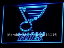 b101 St. Blues Hockey Bar LED Neon Sign with On/Off Switch 7 Colors 4 Sizes to choose