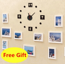 EVA 3D Clock Time Needle Butterfly Bird Watch Stereo DIY Wall Sticker Cartoon Home Decoration Wall Decals Wallpaper For Bedroom(China)