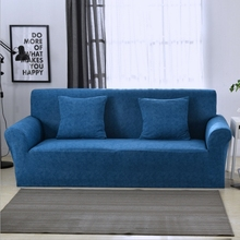 Fashion full coverage stretch sofa cover linen printed sofa cover single seat double seat three seats combination sofa cover(China)
