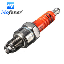 Scooter Motorcycle High Performance Racing 3 Electrode For Spark Plug For Engine GY6 50cc 150cc Rep C7HA C7HSA