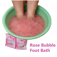 New Foot Bath Crystal Mud Rose Essence Bubble Bath Powder Body Skin Care SPA Bath Salt  Exfoliation Dead Skin Remover