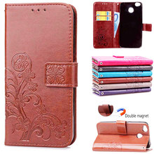 For Xiaomi Redmi 4X BEFOSPEY Leaf Leaves Magnetic Wallet Leather Phone Case Luxury Elegant Cover Cases Mobile Phone Holster Bag(China)
