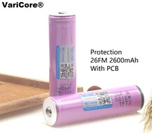 VariCore Original protected 18650 3.7 V 2600mAh rechargeable battery Samsung batteries ICR18650-26FM Industrial use - Official Store store