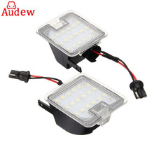 2Pcs White 18 SMD Car Side Mirror Lights LED Lamp For Ford/Focus Kuga Dopo for Mondeo IV for C-Max(China)