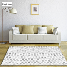 Carpet Geometric Living Room Bedroom Decorations Geometrical Pentagons Shapes Pattern Abstract Texture Modern Symbols Beige Gray