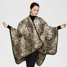 2017 New Scarves for Women Casual Winter Euro Sexy Hot Sale Leopard Poncho Shawl Cape Scarf for Women Fashion Knitwear