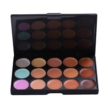 1pc Facial Cream Care Camouflage Makeup Base 15 Colors Professional Concealer Palette Concealer(China)