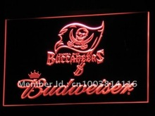 b288 Tampa Bay Buccaneers Budweiser LED Neon Sign with On/Off Switch 7 Colors 4 Sizes to choose(China)