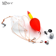 MNFT 2Sets In Box Sea Monster With Strong Hook Set Silver Carp Fishing Float Bobber Bait Cage Tackle Sets Box(China)