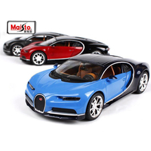 High Quality Maisto 1:24 Scale Bugatti Chiron Diecast Alloy Car Model Toy For Kids Toys Birthday Gifts Collection Free Shipping