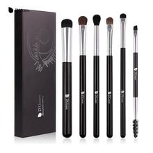 US $0.16 | DUcare Eyeshadow Brush 4/6PCS Makeup Brushes Blending Eyebrow Brush Nature Bristles Synthetic  Hair Eye Shadow Brush Set