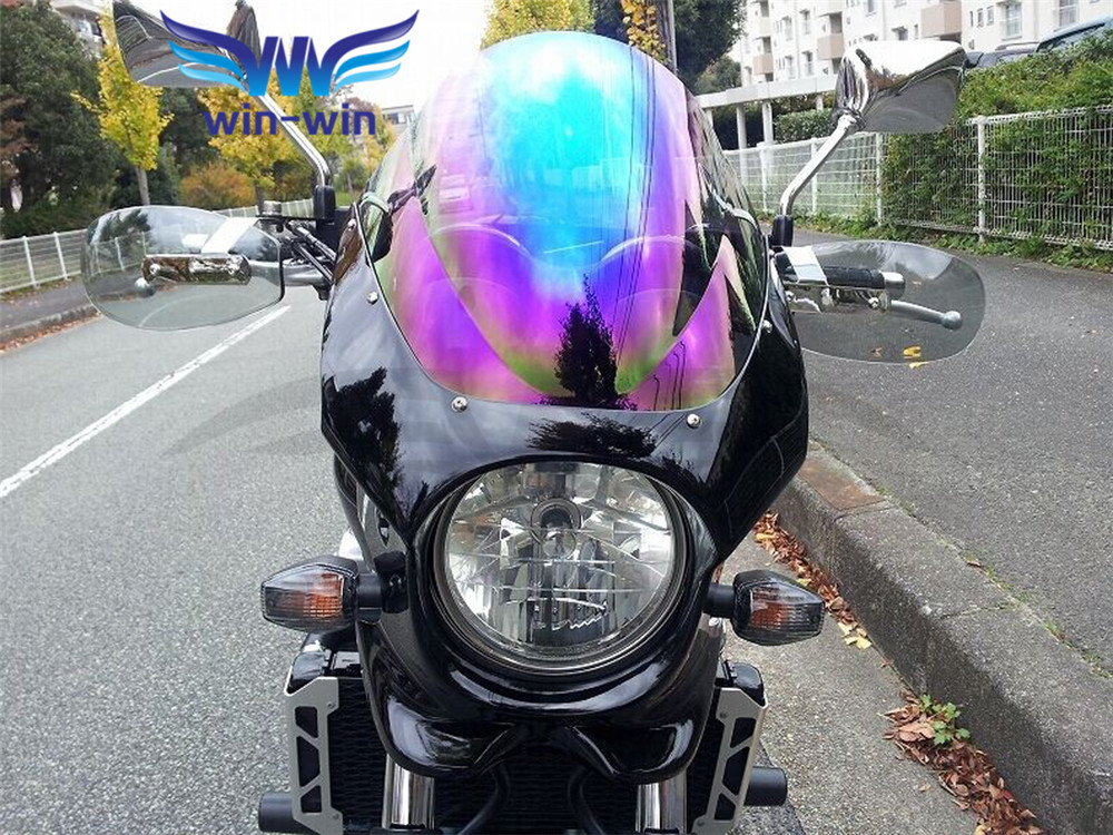 new universal motorcycle wind shield handle hand guard motocross transparent handguard FOR Suzuki GSX1400 GSF650 GSF1200 GSF1250<br>
