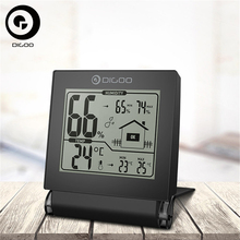 Digoo Mini Foldable Thermometer Hygrometer DG-TH1117 Home Comfort Collapsible Digital Indoor Hygrometer Temperature Monitor(China)