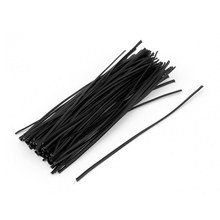 "UXCELL 100Pcs Plastic General Use Candy Bag Package Twist Ties 6"" Black(China)"