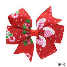 1 Piece Christmas Hair Bow Clips Baby Girl Hair Clips Boutique Bow Clips For Women Hair Accessories(China)