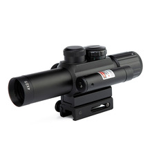 Spike Brand 4X25 Hunting Riflescope with Good Quality Red Dot Laser Rifle Scope Airsoft for 21mm Rail Sniper Tactical Optics