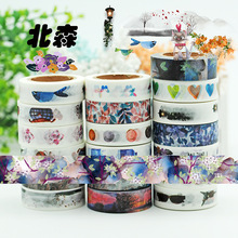 (5 pieces/lot) Vintage Style Wahi Tape Color Paper Sticker DIY Scrapbooking Paper Tape