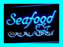 i070 Seafood Restaurant Fish Display LED Neon Light Sign On/Off Swtich 7 Colors 4 Sizes