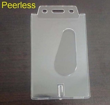 Peerless 1 Pcs Plastic Clear Hard Slide Out Card Holder Business Credit ID Card Holder For Desk Organizer(China)