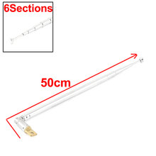 UXCELL Product Name Replacement 13Cm To 50Cm 6 Sections Telescopic Antenna Aerial For Am Fm Radio Tv aerial | antenna(China)
