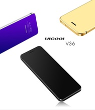 Metal Body Ulcool V36 Bluetooth 2.0 Dialer Anti-lost Dual Sim Ultrathin Credit Card Mobile Cell Phone+case +screen Protector(China)