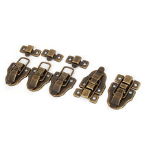 UXCELL Furniture Suitcase Box Drawer Lock Chest Vintage Style Toggle Latch Hasp 5Pcs(China)