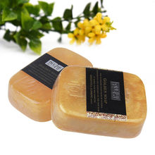24K Gold Whitening Soap Bath Face Washing Beauty Soap Gold Foil Skin Care Acne Treatment Wrinkle Remover Moisturer 80g(China)
