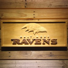 Baltimore Ravens Football 3D Wooden Sign(China)