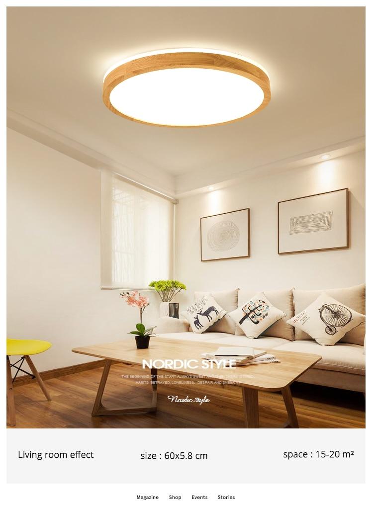 q (5)Ceiling Lights Wood